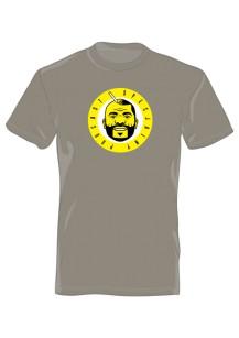 Koszulka Męska przód/tył jasny szary 61076