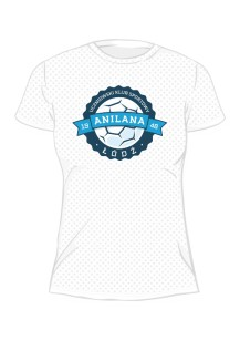 Koszulka sportowa damska nadruk PRZÓD 7367